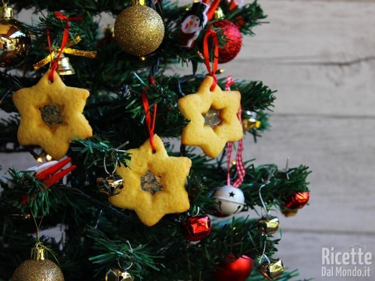 Albero Di Natale Con Biscotti Bucaneve.Biscotti Di Vetro Da Appendere All Albero Di Natale
