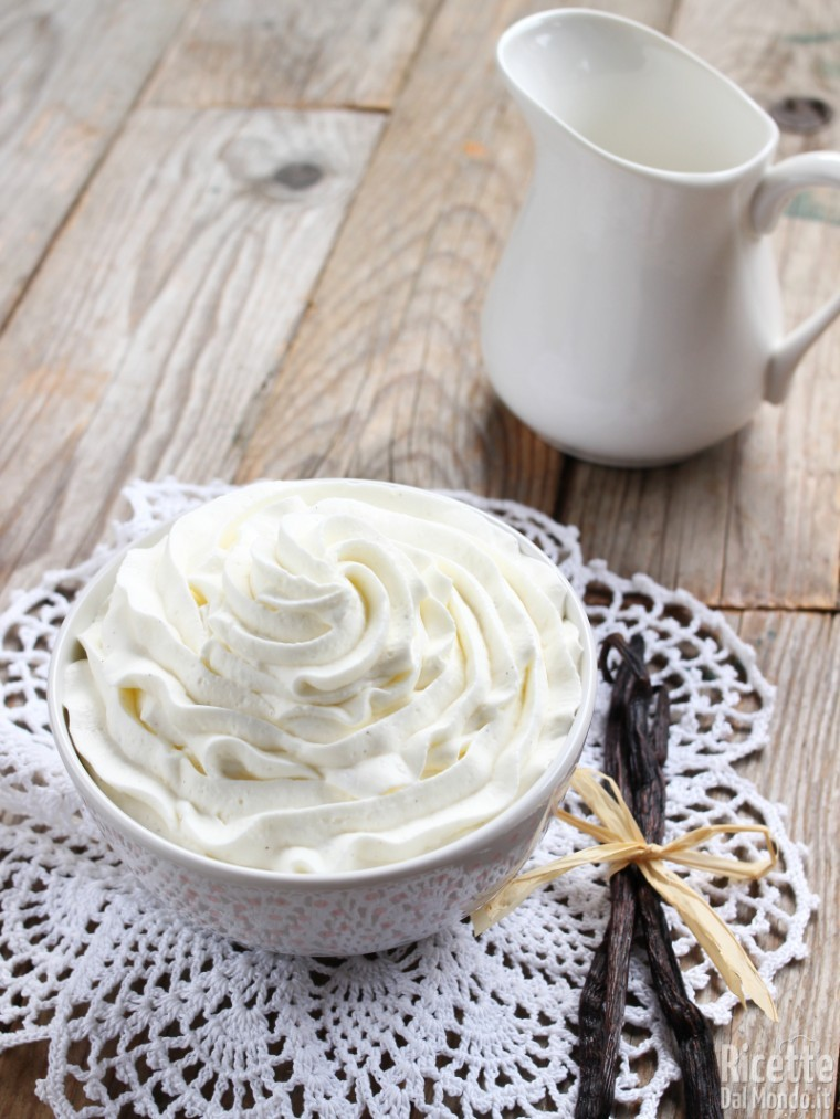 Crema chantilly alla panna