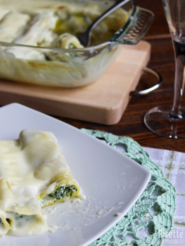 Come fare i Cannelloni con ricotta e spinaci