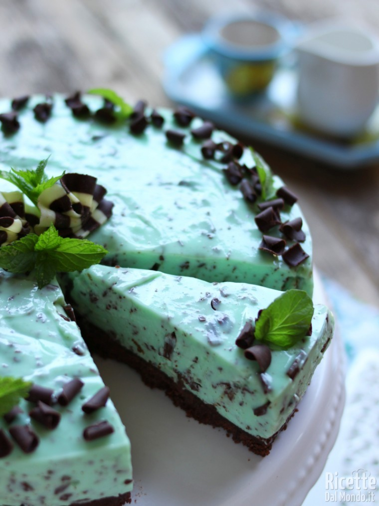 Come fare una cheesecake menta e cioccolato