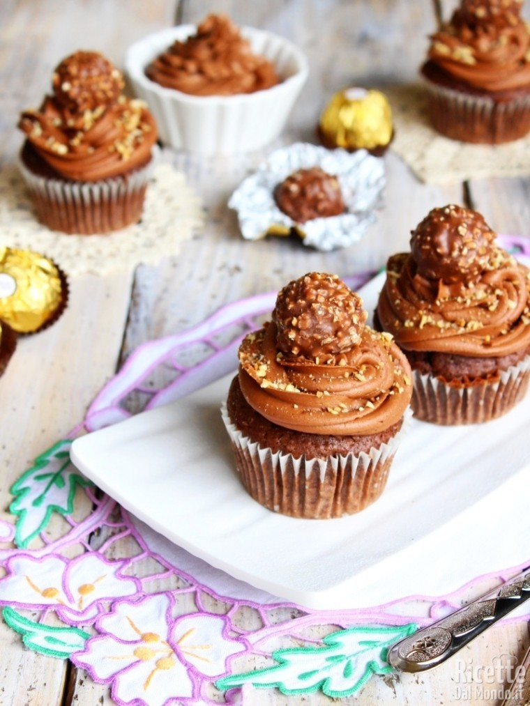 Come fare i cupcakes Ferrero Rocher
