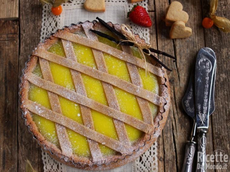 Ricetta Crostata Alla Crema.Crostata Alla Crema Pasticcera Vegana Marianna Pascarella