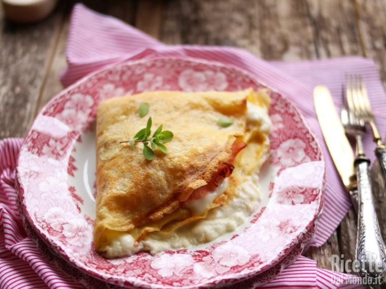 Ricetta Omelette Salate Prosciutto E Formaggio.Crepes Salate Prosciutto E Formaggio Marianna Pascarellla