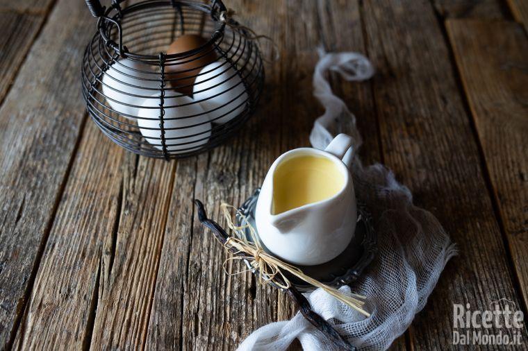 Crema inglese, la ricetta originale