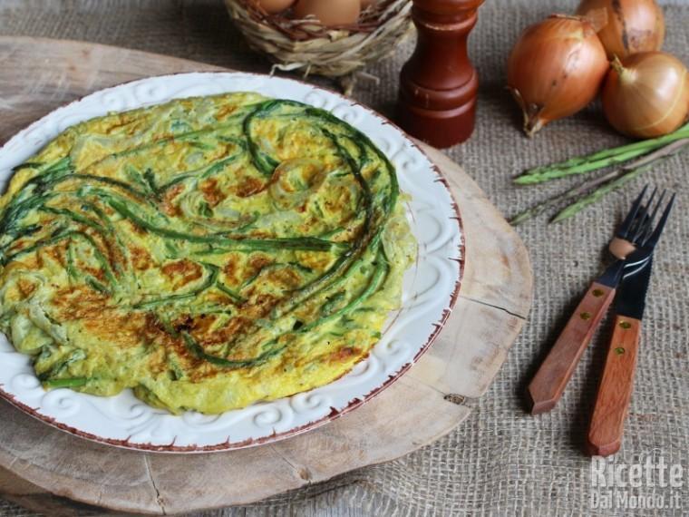Ricetta Frittata Con Asparagi.Frittata Di Asparagi Selvatici E Cipolle Ricettedalmondo