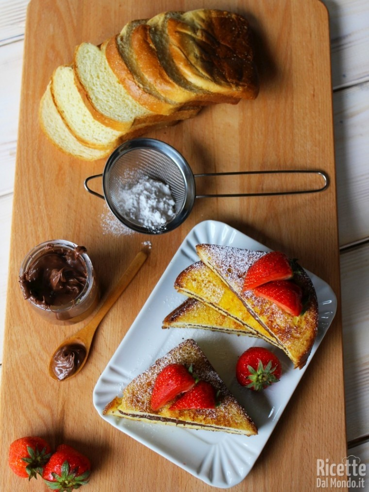 French toast Nutella e fragole fatti in casa