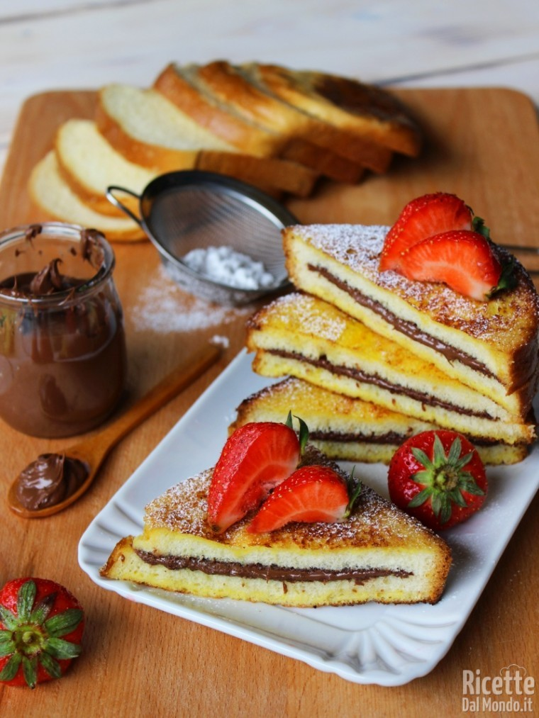 Come fare i French toast Nutella e fragole