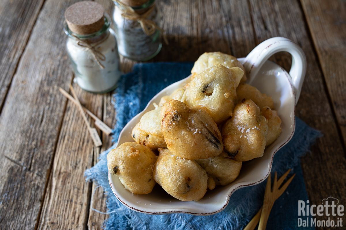 Frittelle di cozze lievitate