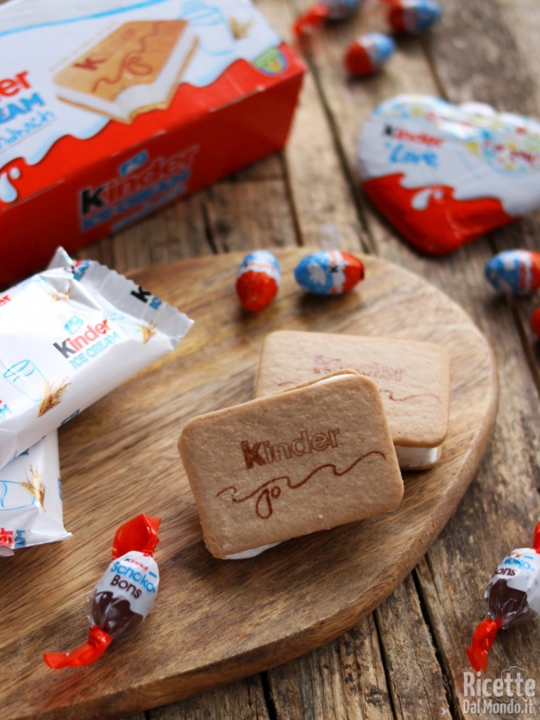 Kinder ice cream sandwich