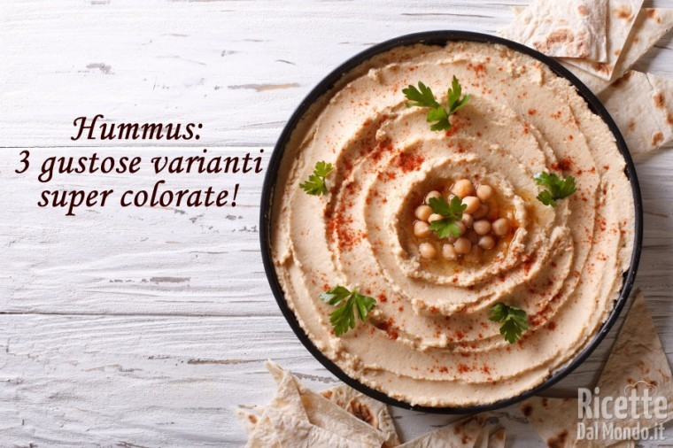 Ricetta Hummus: 3 gustose varianti super colorate