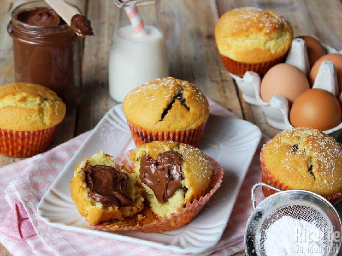Ricetta Muffin Semplice.Muffin Alla Nutella Muffin Dolci Ricettedalmondo It