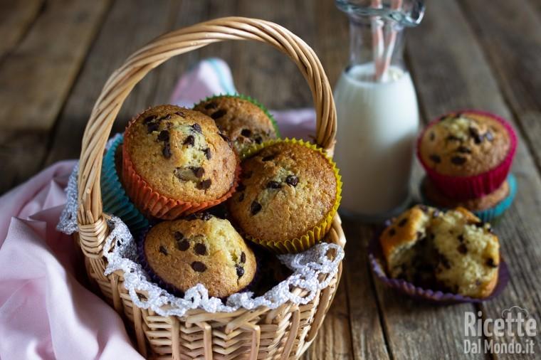 Ricetta Muffin Con Gocce Di Cioccolato.Muffin Con Gocce Di Cioccolato Ricettedalmondo It