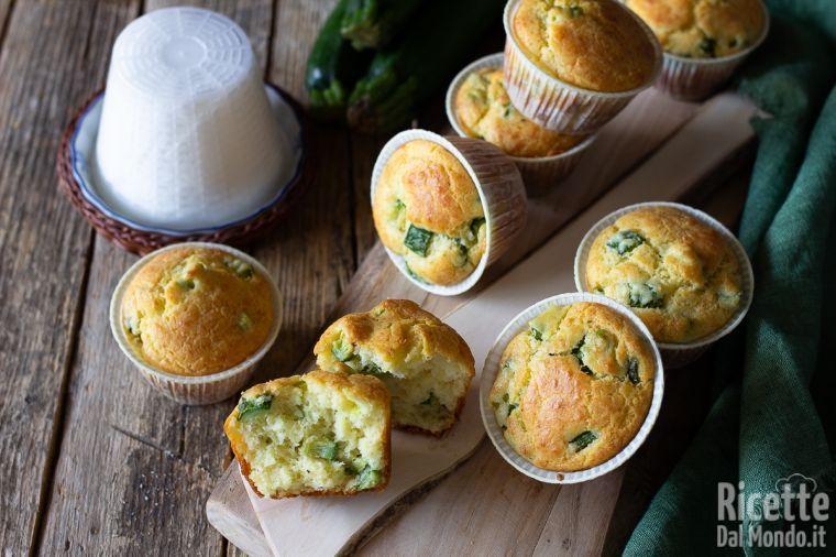 Muffin zucchine e ricotta sofficissimi