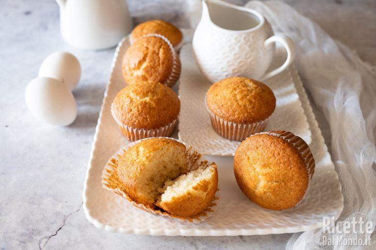 Muffin con albumi e mandorle