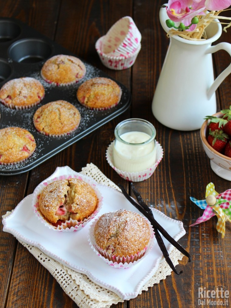 Come fare i muffin alle fragole e yogurt