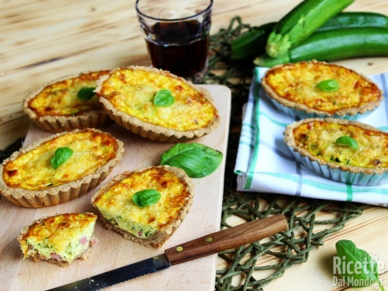 mini quiche al farro con verdure estive
