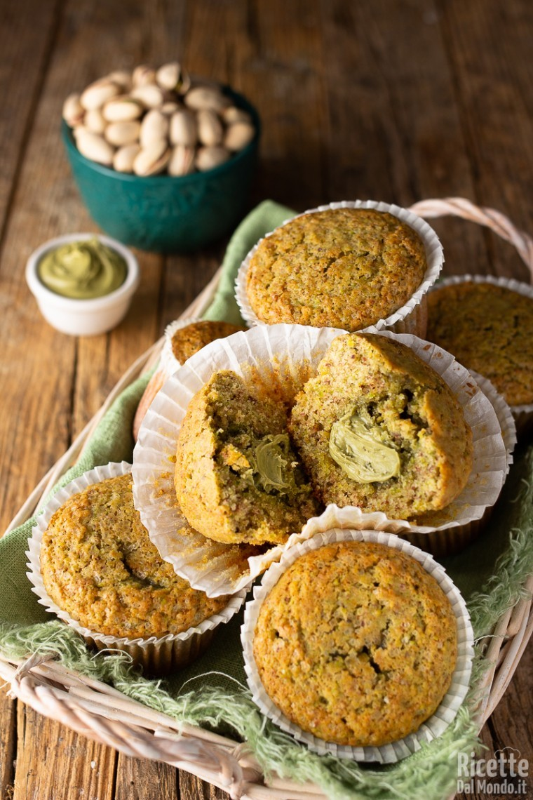 Come fare i muffin al pistacchio