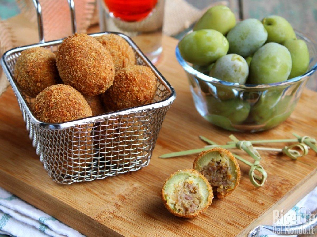 Ricetta X Olive Ascolane.Olive All Ascolana Ripiene Ricettedalmondo It
