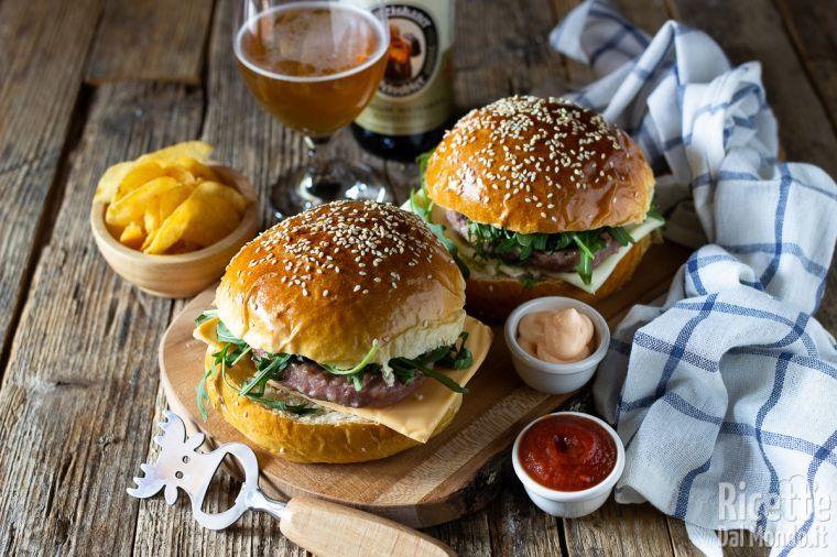 Ricetta Hamburger Panino.Panini Per Hamburger Burger Buns Marianna Pascarella