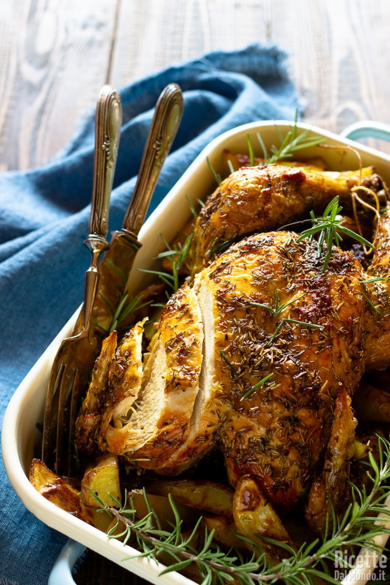 Come fare il pollo arrosto con le patate