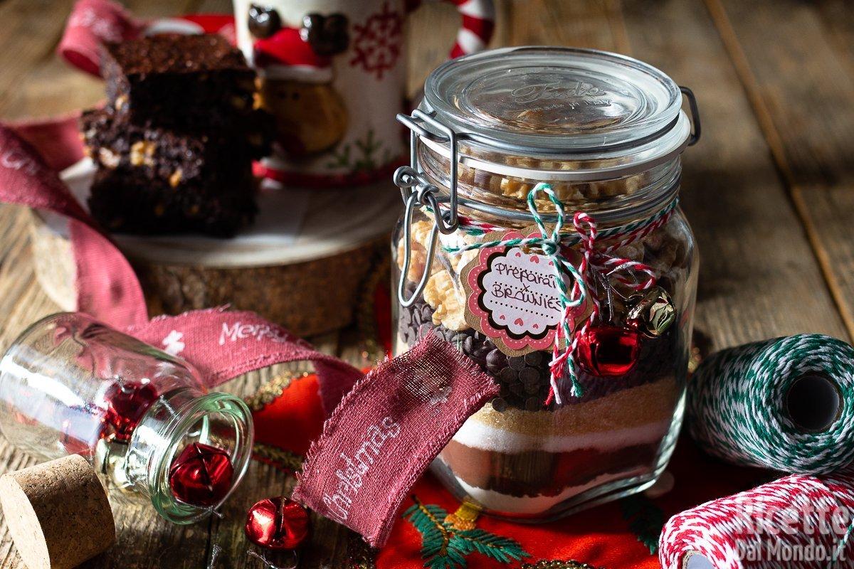 Ricetta Brownies In Barattolo.Preparato Per Brownies Pronto All Uso Ottima Idea Regalo Per Natale