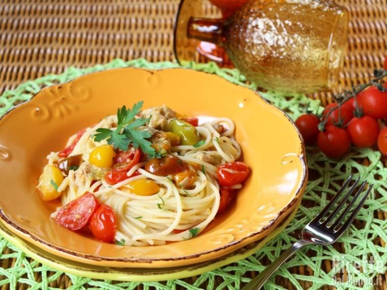 Ricetta Pasta Con Farina Di Quinoa.Spaghetti Di Quinoa Con Pomodorini E Tonno Senza Glutine