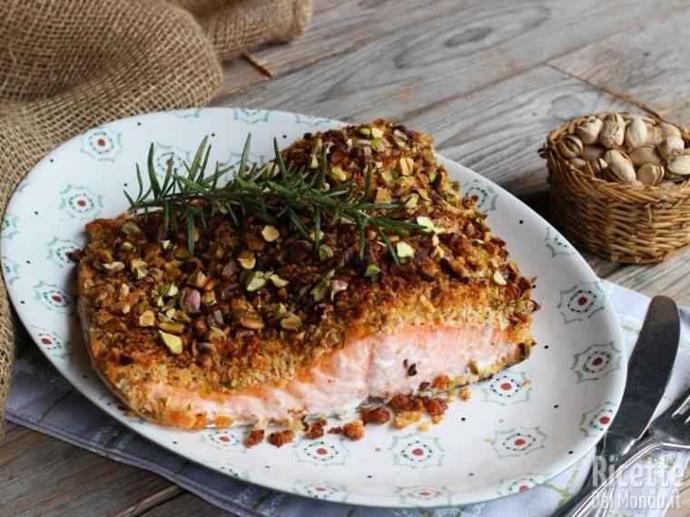 Ricetta Salmone Con Pistacchi.Salmone In Crosta Di Pistacchi Al Forno Ricettedalmondo