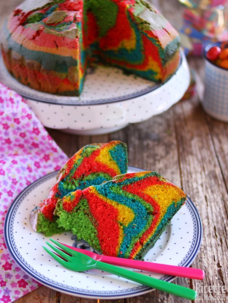 Come fare una torta multicolor