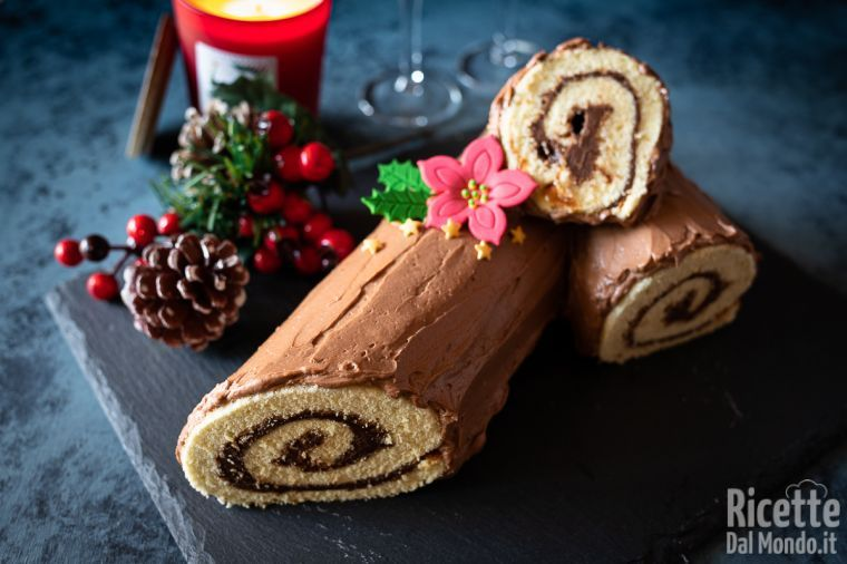 Tronchetto Di Natale Per Celiaci.Tronchetto Di Natale Alla Nutella Ricettedalmondo It