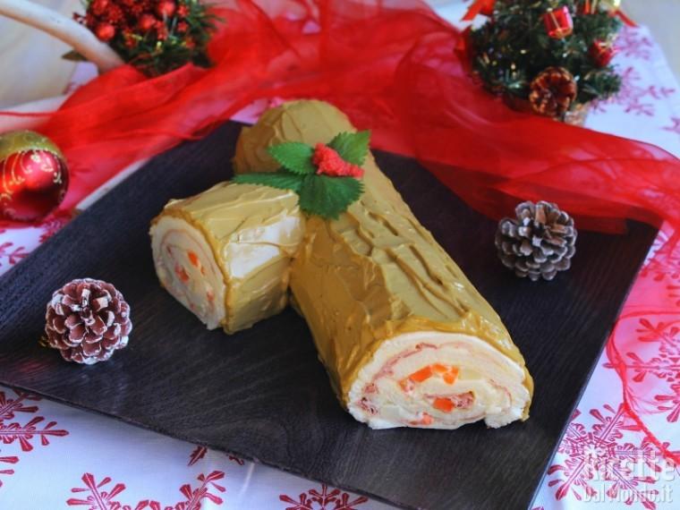 Ricetta Tronchetto Di Natale Salato.Tronchetto Di Natale Salato Ricettedalmondo It