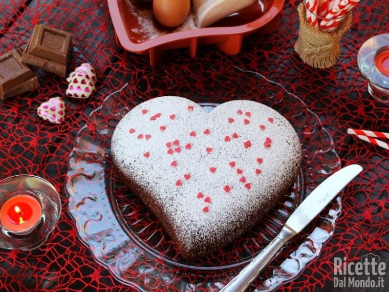 Ricetta Torta Al Cioccolato A Forma Di Cuore.Torta Al Cioccolato Al Latte Ricettedalmondo It