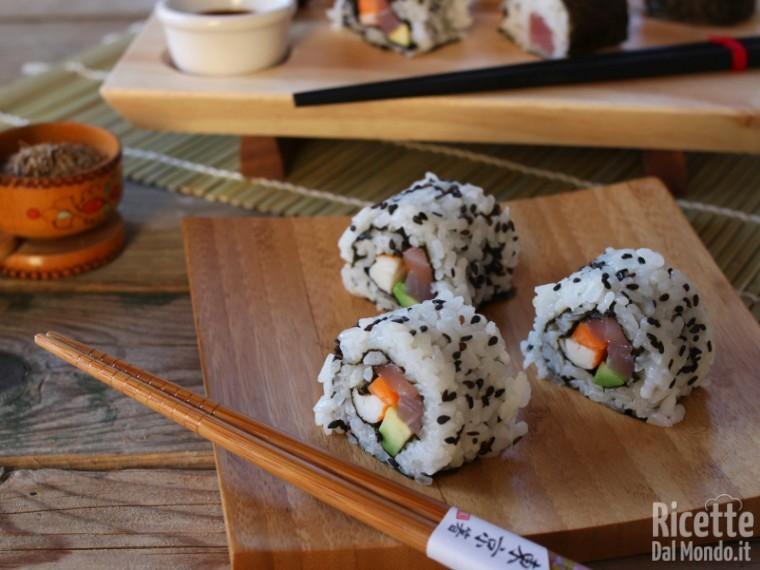 Ricetta Per Uramaki.Uramaki Sushi California Roll Marianna Pascarella