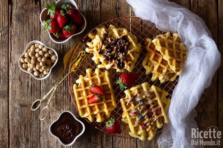 Ricetta Wafer Dolci.Waffle Ricetta Originale Marianna Pascarella