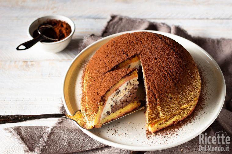 Ricetta Pan Di Spagna Per Zuccotto.Zuccotto Toscano Alla Ricotta E Cioccolato Marianna Pascarella